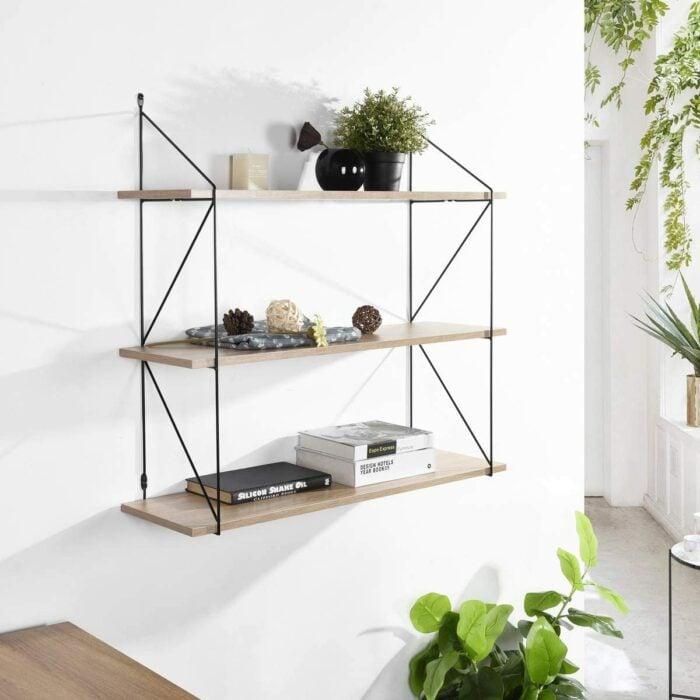 Estante de tres niveles para colocar plantas