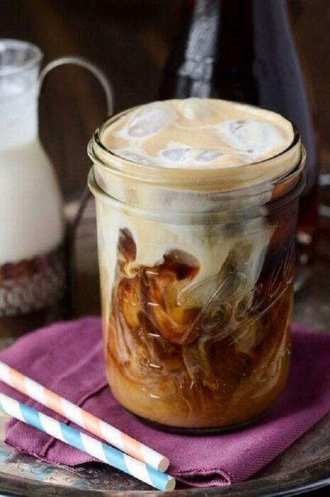 Café frío con leche condensada