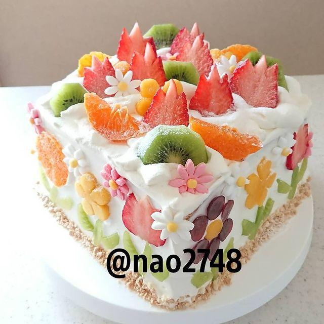 Pastel frutal; Platillo elaborado por nao2748; Hermosa comida de bento estilo japonés