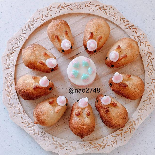 pan de caja en forma de conejito; Platillo elaborado por nao2748; Hermosa comida de bento estilo japonés
