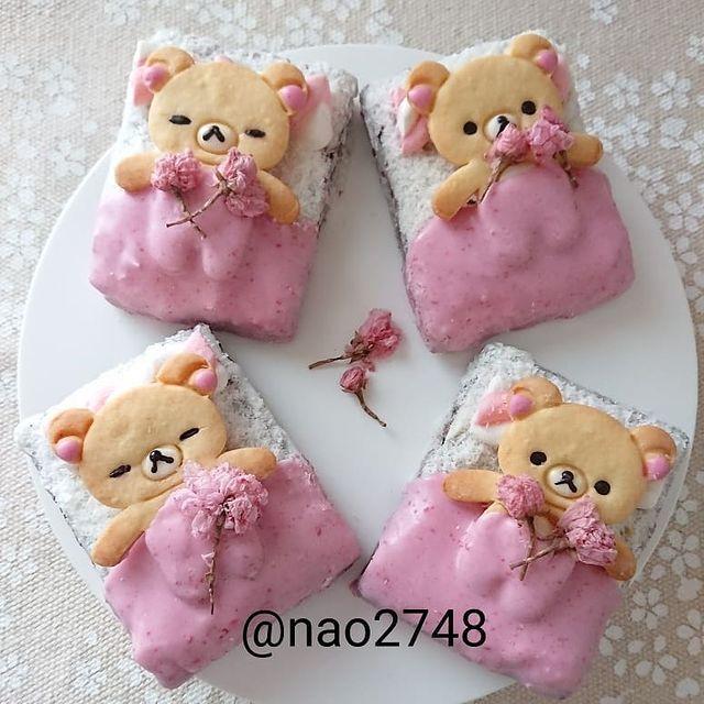 Tostadas dulces con diseño de osito; Platillo elaborado por nao2748; Hermosa comida de bento estilo japonés