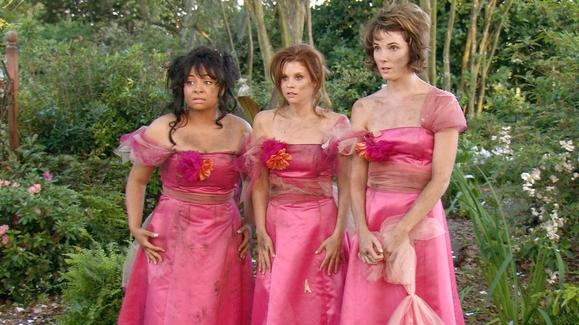 Damas de honor vestidas de color rosa