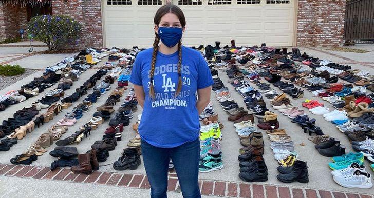 Lindsay Sobel, de 17 años; Joven dona 30 mil pares de zapatos a personas sin hogar y crea una fundación
