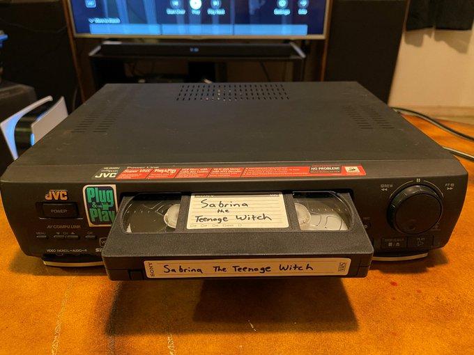 Cinta VHS de Sabrina, la bruja adolescente