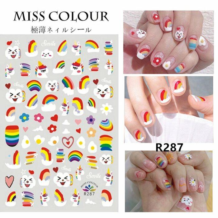 Stickers de diferentes formas para las uñas