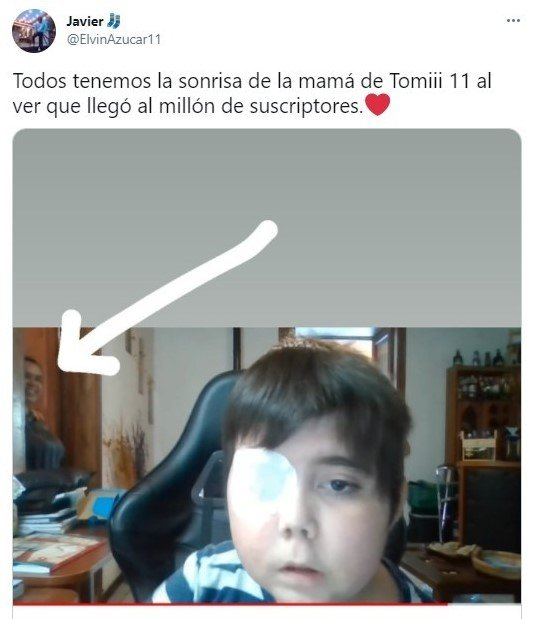 Tuit sobre el youtuber Tomiii 11; Tomiii 11, el youtuber que está uniendo a todo internet por una noble causa