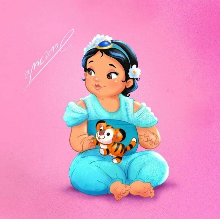 Dibujo por Alex Pick  de Jazmin como una niña