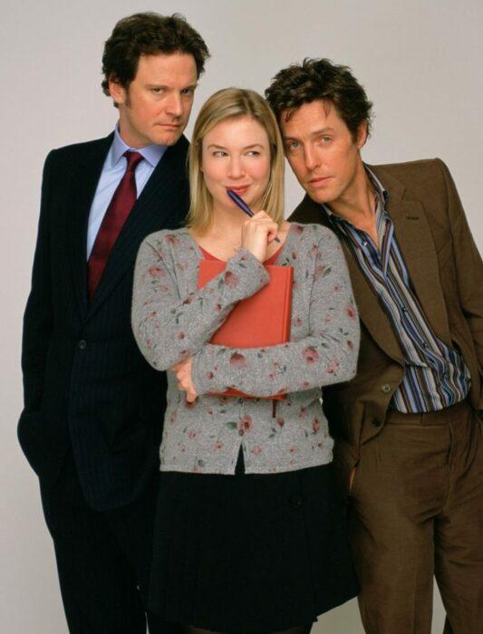 Escena de El diario de Bridget Jones con los protagonistas