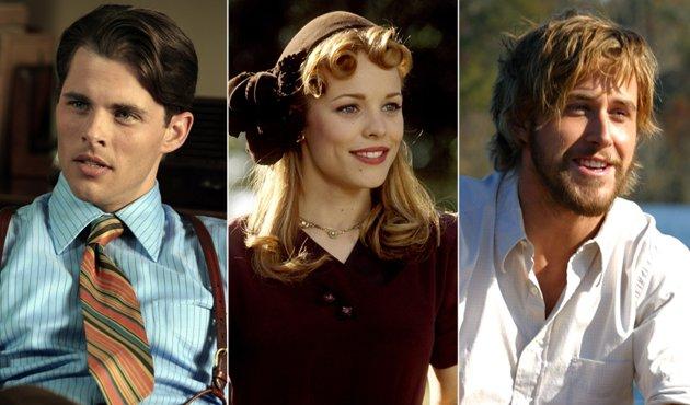 Escena de la película diario de una pasión en la que están Noa, Allie y Lon