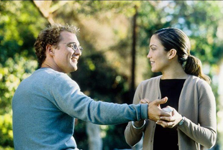 Escena de The wedding Planner en la que están JLo y Matthew McCongey