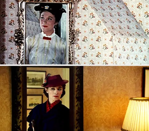 Similitud de escenas en las películas Mary Poppins - El regreso de Mary Poppins; Universos paralelos en el cine