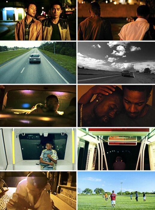 similitud de escenas en las películas Luz de luna - Happy Together