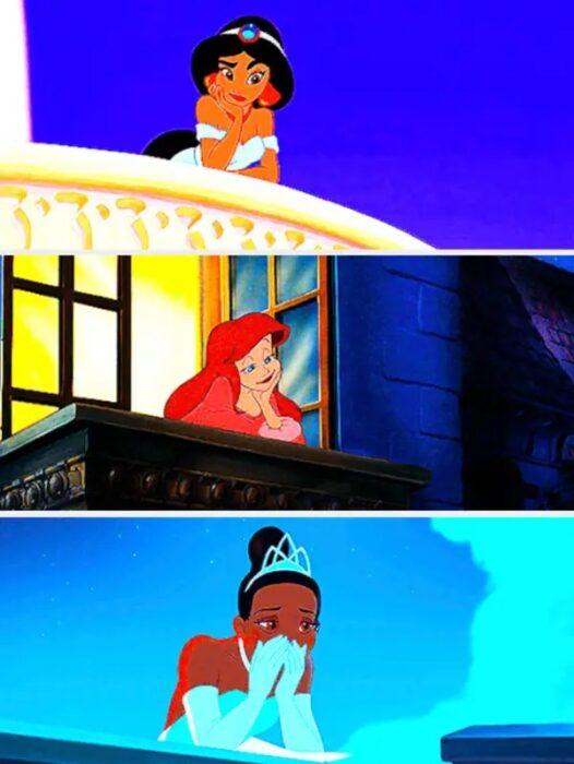 similitud de escenas en las películas Aladdín - La Sirenita - La princesa y el sapo