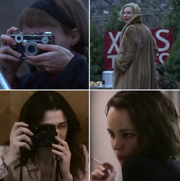 Similitud de escenas en las películas Carol - Desobediencia ; Universos paralelos en el cine