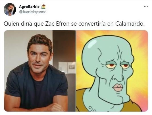 meme sobre el cambio de look de Zac Efron; Zac Efron apareció con un cambio de look y sorprende en redes sociales