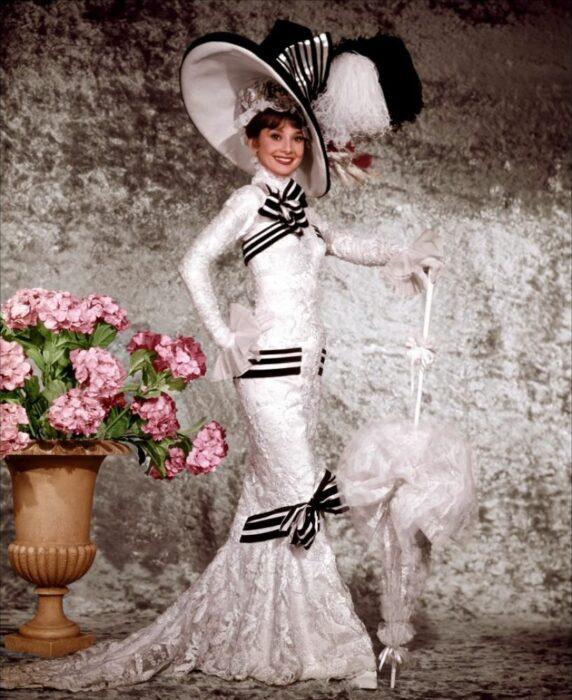 Vestido blanco audrey hepburn my fair lady