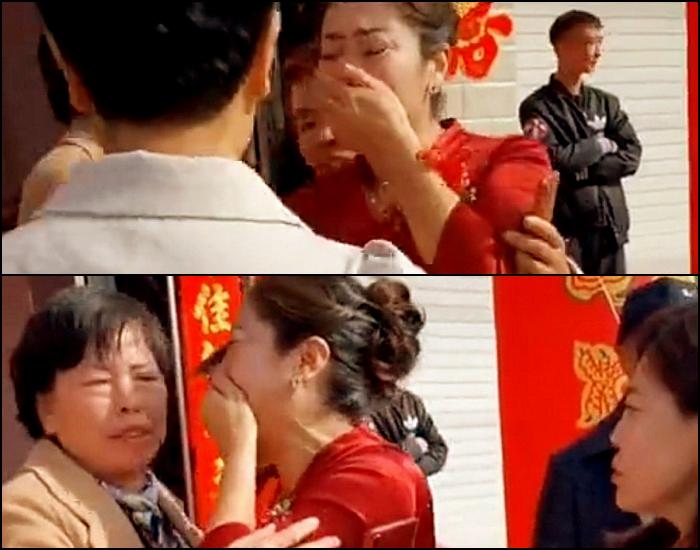 madre e hija se reencuentran durante una boda en china