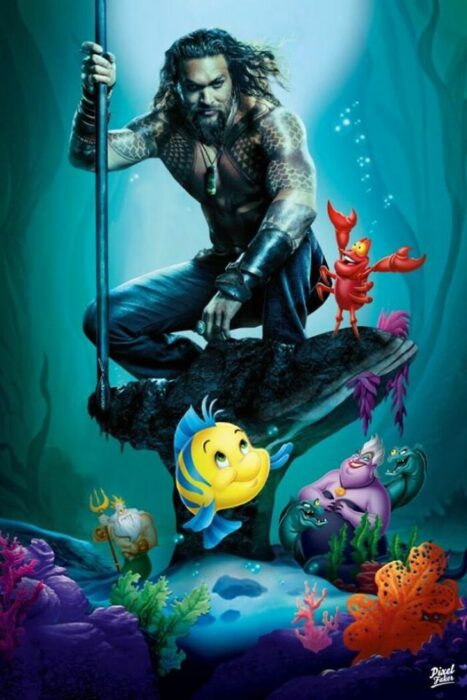 Aquaman en la película de La Sirenita