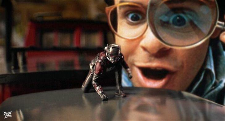 Ant Man en la película de querida encogía a los niños