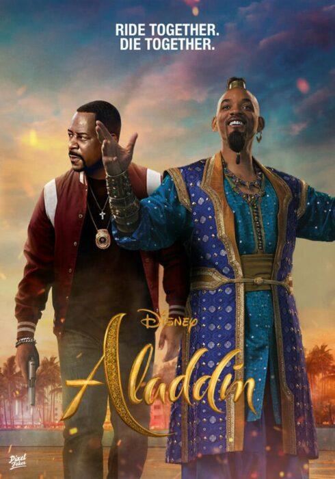 Aladin y en la portada de la película Bad Boys