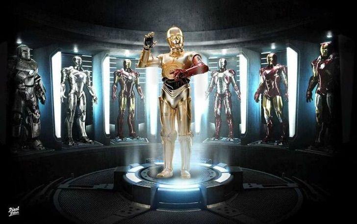 C3PO en la película de Airon Man
