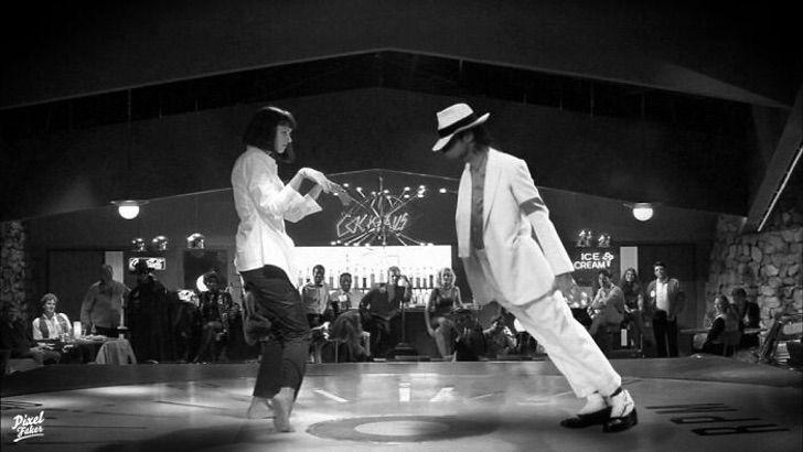 Mia Wallace y Michael Jackson bailando en Pulp Fiction