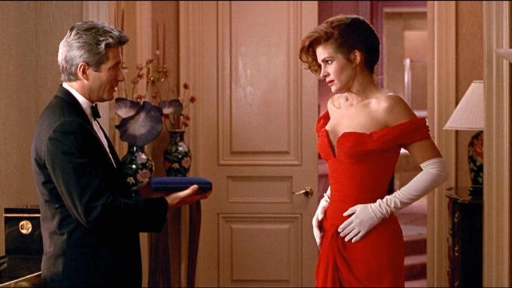 julia roberts pretty womman vestido rojo