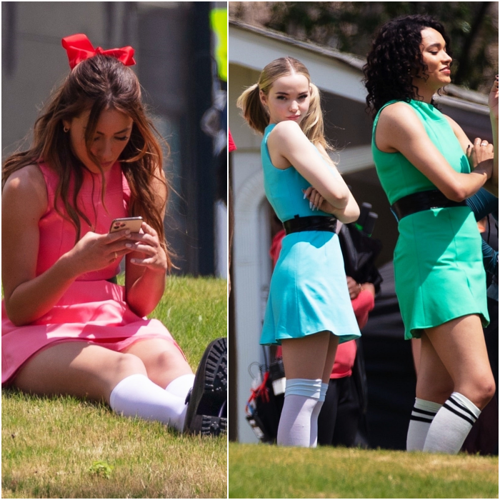 Dove Cameron, Chloe Bennet y Yana Perrault como Bombón, Burbuja y Bellota