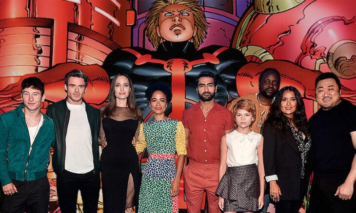Escena del elenco de Eternals;  ¡Por fin! Marvel revela el primer tráiler de 'Eternals'