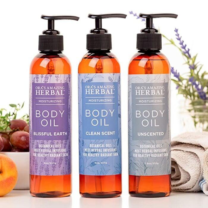 Ora's Amazing Herbal ;10 Aceites corporales para consentir cada rincón de tu piel