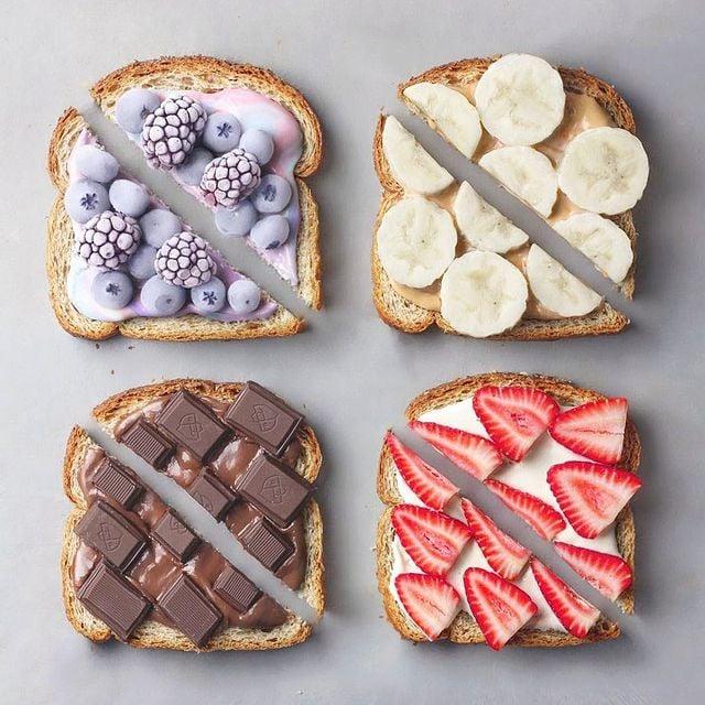 tostadas con frutas; 13 Platillos tan 'kawaii' que no creerás que son comida vegetariana