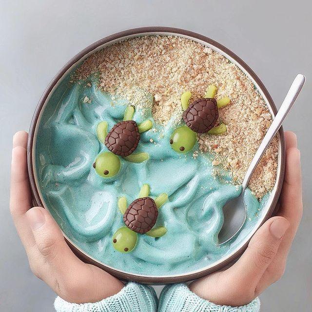bowl de avena; 13 Platillos tan 'kawaii' que no creerás que son comida vegetariana