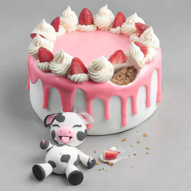 pastel de vainilla; 13 Platillos tan 'kawaii' que no creerás que son comida vegetariana