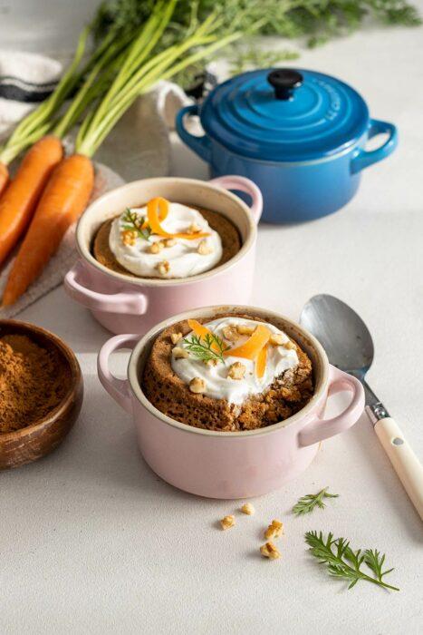 Pastelillo con zanahoria ;13 Sencillas rectas para hacer 'mug cakes' en microondas
