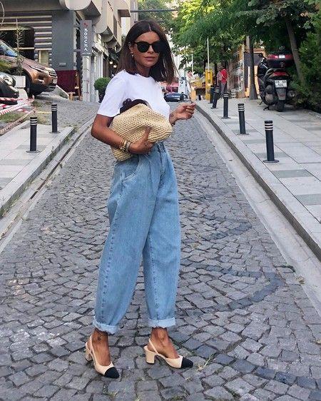 chica con mom jeans ;14 Ideas para vestir como la reina de la primavera
