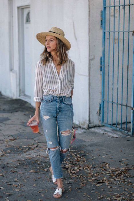 chica con jeas rotos ;14 Ideas para vestir como la reina de la primavera