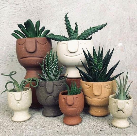 Macetas en forma de tribu ;14 Macetas aesthetic para que tus plantas se ven bien chulas