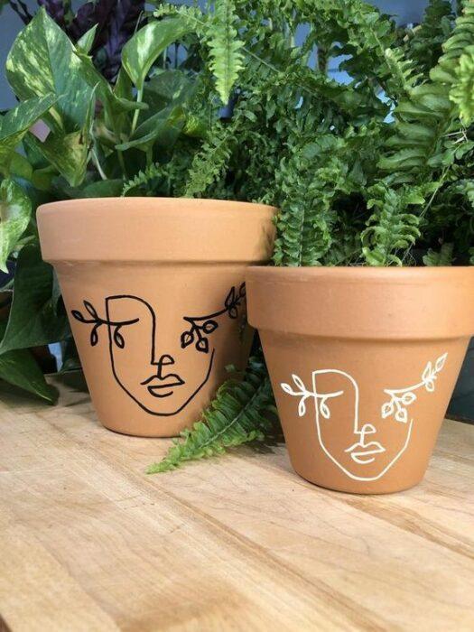 Macetas de cerámica ;14 Macetas aesthetic para que tus plantas se ven bien chulas