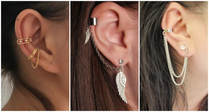 chicas usando ear-cuffs; 7 Tipos de aretes que toda chica debería tener en su alhajero