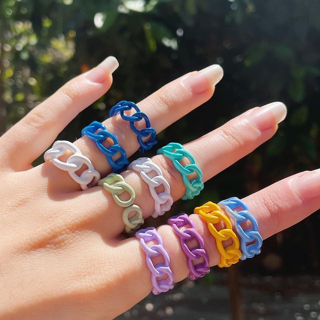 Acrylic Chain Rings; 17 'Chunky' Rings You Should Give A Go To