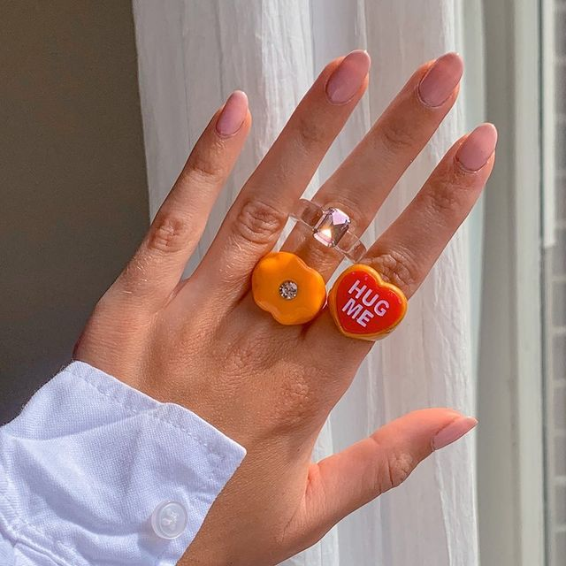 Acrylic Rings in Orange Tone; 17 'Chunky' Rings You Should Give a Chance