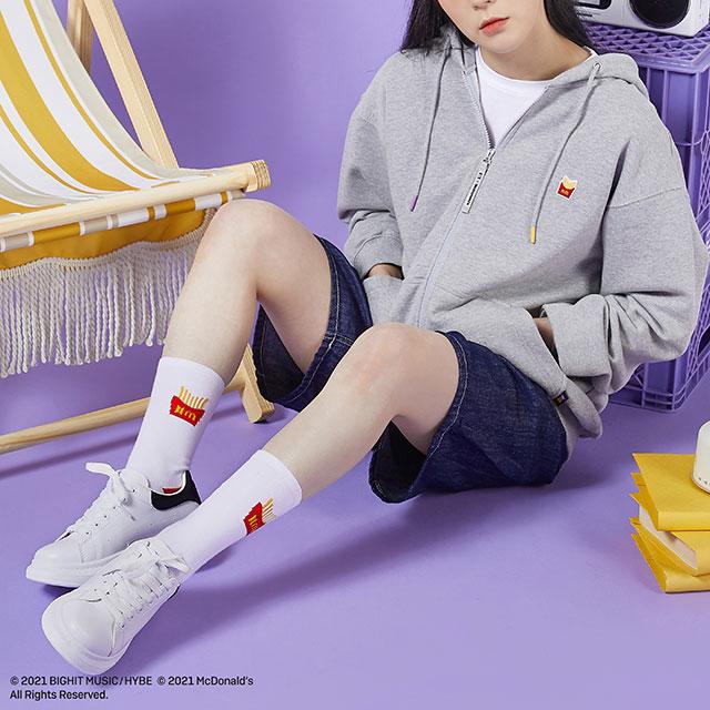 calcetas y hoodie; ;Army, preparate para comprar toda la colección BTS de McDonalds