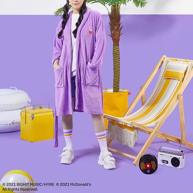 Bata de baño; ;Army, preparate para comprar toda la colección BTS de McDonalds