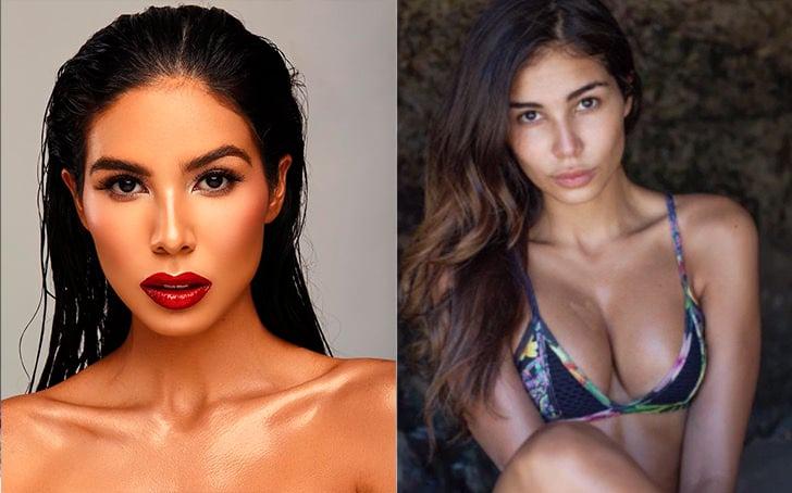 Latinas de miss universo maquilladas en comparación sin una gota de maquillaje