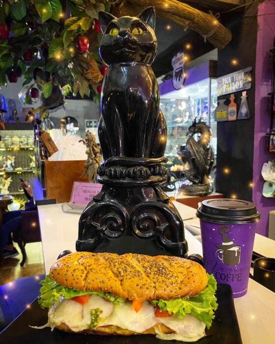 panini de queso con jamón ;Esta cafetería inspirada en brujas sirve las mejores posiciones del mundo oscuro