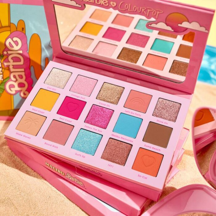 Paleta de sombras de Barbie Malibú; ColourPop y Barbie Malibu lanzan línea de maquillaje