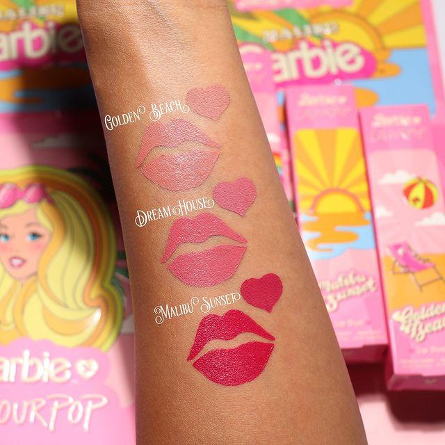 Labiales de Barbie Malibú; ColourPop y Barbie Malibu lanzan línea de maquillaje