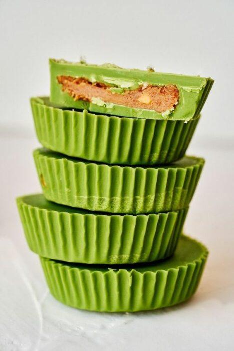 Tacitas de chocolate ;Deliciosas recetas de postres con té matcha