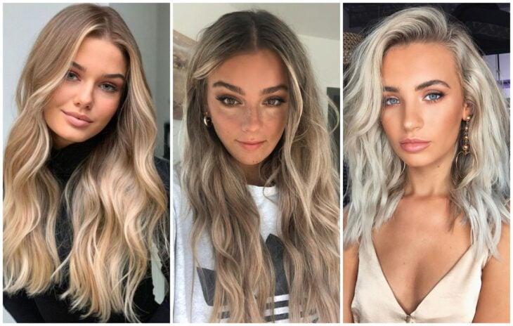 Chicas con pieles rosadas y tintes rubios; Elige el tinte perfecto para tu cabello según tu color de piel