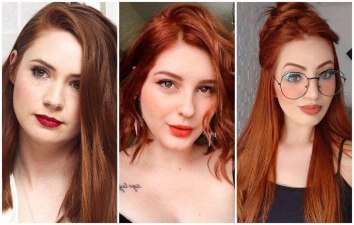 Chicas de pieles blancas con tintes rojos; Elige el tinte perfecto para tu cabello según tu color de piel